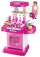 Переносная мини-кухня в чемоданчике (розовая)