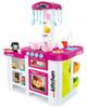 Кухня МОДЕРН-2 с водой, столиком и холодильником (бордо)