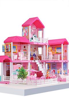 Большой дом для кукол «МЕЧТА» вилла 3 этажа