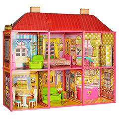 """Кукольный домик для Барби """"Чудесная вилла"""" 6 комнат"""