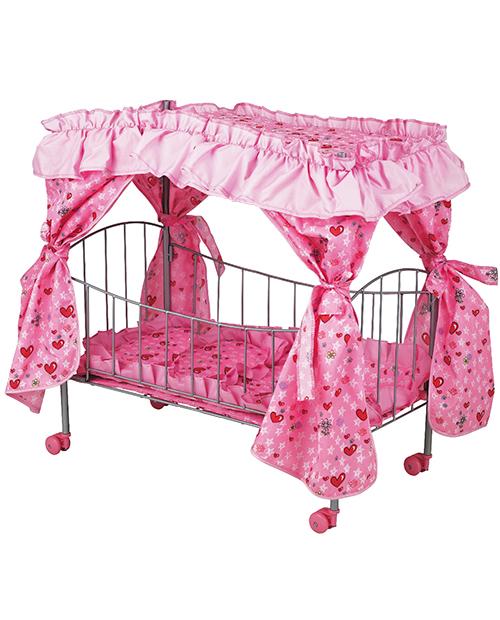 Кроватка с пологом для больших кукол до 60 см