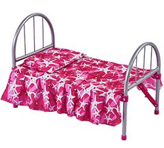 Компактная кукольная кроватка (металл)