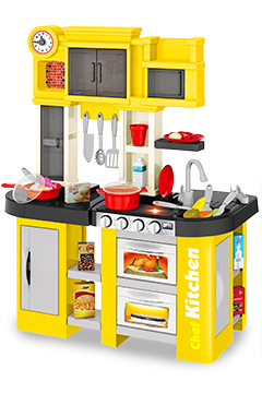 Кухня «ЛИМОН» с водой, буфетом и 2 холодильниками