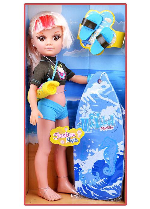 Кукла Maylla с аксессуарами для сёрфинга