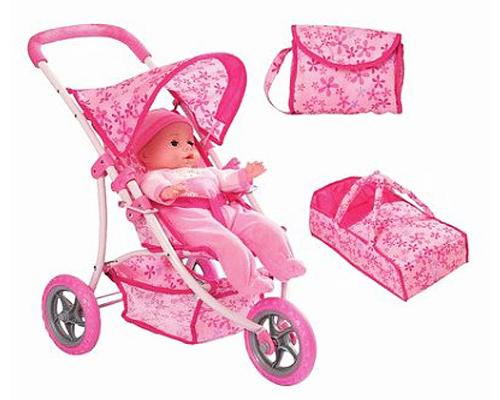 "Набор ""Mother Love"": кукла, коляска, переноска и сумка"