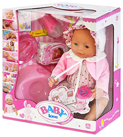 Кукла Baby Doll Love платье и розовая пелеринка