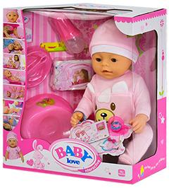 "Кукла Baby Doll Love ползунки ""Розовый Мишка"""