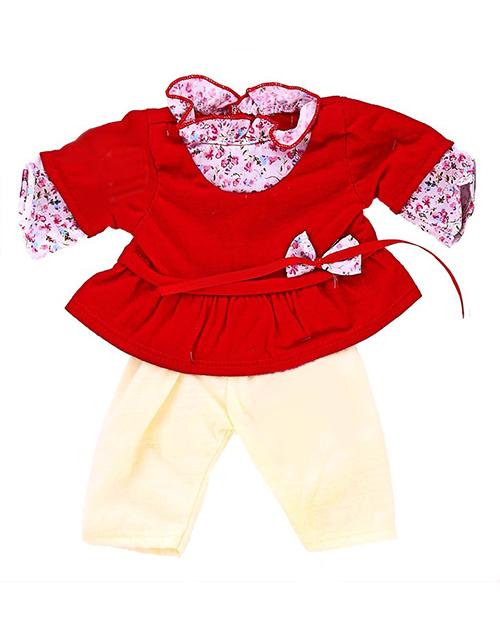 Красное платье с штанишками