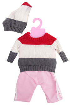 Тёплый спортивный комплект (свитер, штанишки, шапочка)