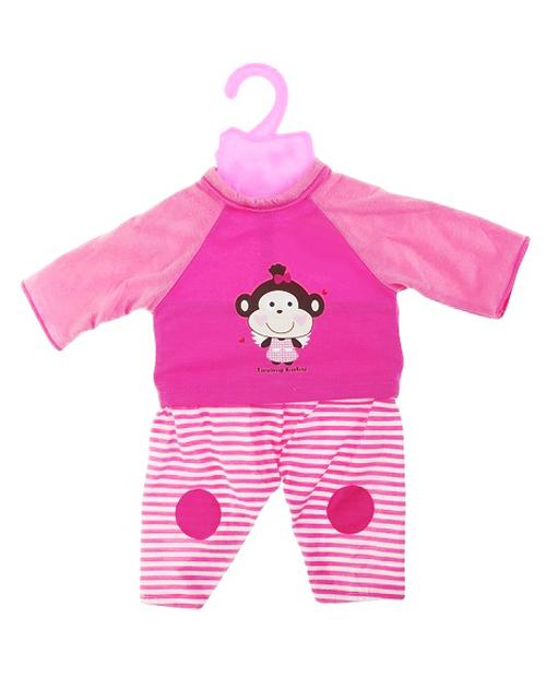 Розовый комбинезон с обезьянкой