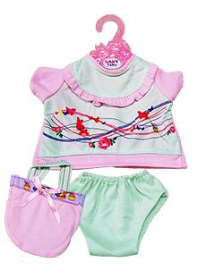 Короткое платье с бабочками (сумочка + трусики)