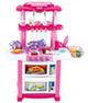 Большая игровая кухня с чайником и водой (розовая)