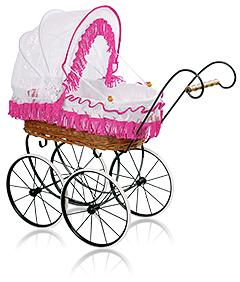 Стильная коляска для кукол «ЛЮКС-Retro»