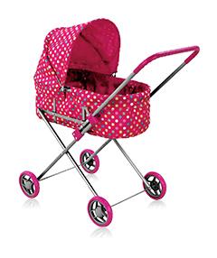 Кукольная коляска со съёмной люлькой