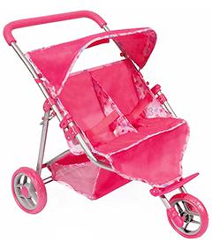 Прогулочная коляска для двух кукол