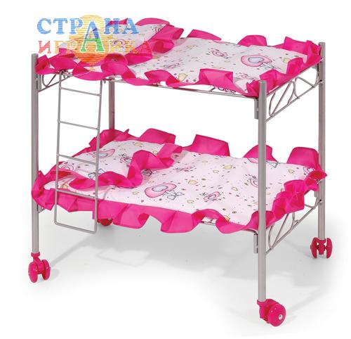 Двухярусная кроватка для двух кукол