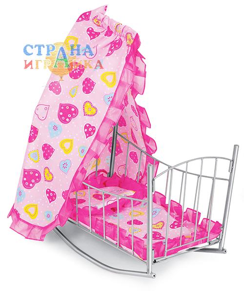 Кукольная кроватка-качалка 9349а