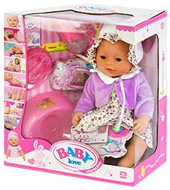 Кукла Baby Doll Love платье и сиреневая пелеринка